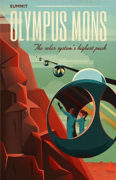 spacex olympus mons recruitment poster