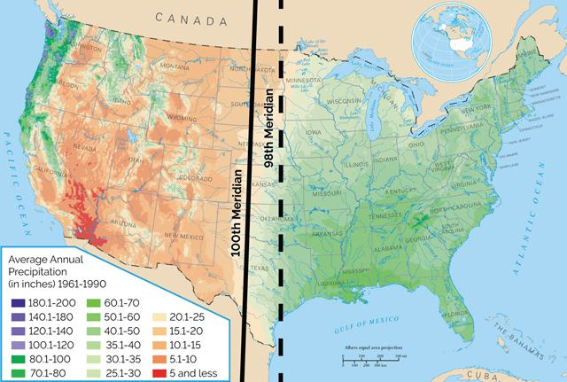 effect of climate change on 100th meridian