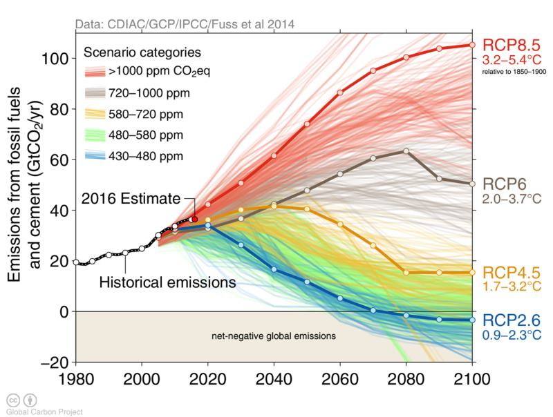 RCP-based climate change projections