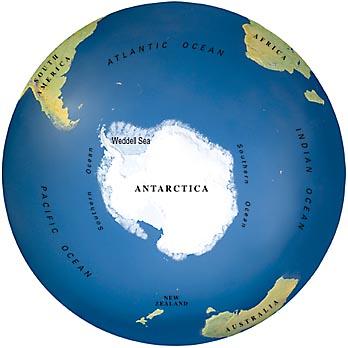 Antarctic ice sheet extent