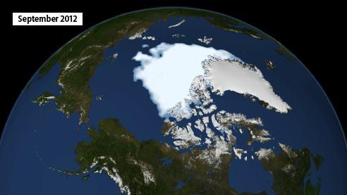Arctic sea ice September 2012