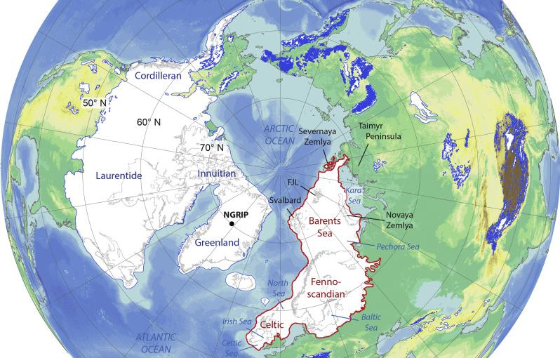 the Laurentide ice sheets